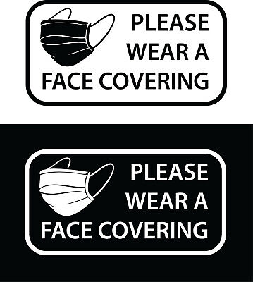 £3.93 • Buy PLEASE WEAR A FACE COVERING Mask Sign Window Sticker Cafe Pub Restaurant Shop