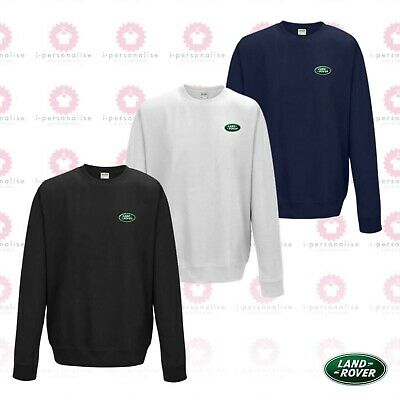 Awdis Mens Land Rover Embroidered Discovery Sweatshirt Premium Quality Finish • 24.99£