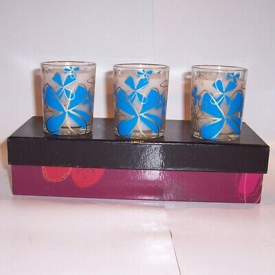 Enesco Renaissance Range Periwinkle Wax Filled Votives • 14.99£