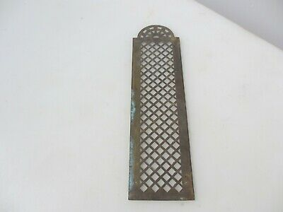 Victorian Brass Finger Plate Push Door Handle Pierced French Antique Old Vintage • 12£