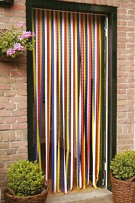 PVC Door Strip Insect Curtain Stop Flying Mosquito Bugs Flies Wasps 90 X 210cm • 6.95£