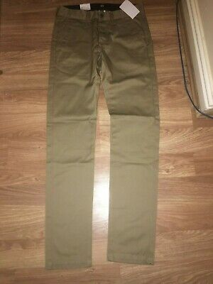 Edwin Mens 28w 33l Brown Straight Leg 100% Cotton Twill Chinos (new With Tags) • 27.99£