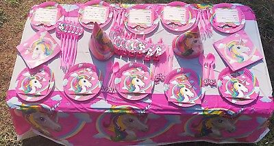 AU28.99 • Buy 13 Styles Unicorn Party Supplies Pack Boy/girl Kids Birthday Marvel 10 Guest