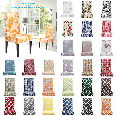 AU10.48 • Buy Luxury Washable Dining Chair Seat Cover Slip Stretch Wedding Banquet Party Event
