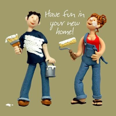 New Home Card - Fun In New Home Decorating - Funny One Lump Or Two Quality NEW • 3.19£