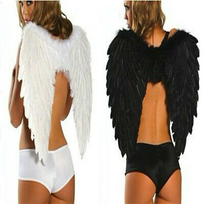 Adults Kids Feather Angel Wings Xmas Hen Night Party Fancy Dress Costume Cosplay • 9.89£
