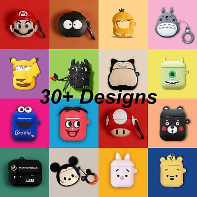 AU9.41 • Buy Cute Airpods 1 2 3 Pro Shockproof Silicon Gel Case Cover Airpod Nintendo Cartoon