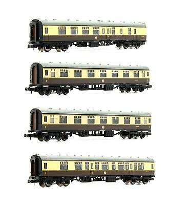 Graham Farish 'n' Gauge Rake Of 4 Br Chocolate & Cream Mk1 Coaches • 99.50£