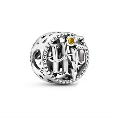 £10.99 • Buy 925 Sterling Silver Harry Potter Charm HP Openwork Icons In A Velvet Gift Pouch