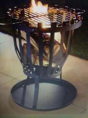 Outdoor Fire Pit Log Burner Garden Patio Heater Grill Coffee Table NEW UK STOCK • 49.99£