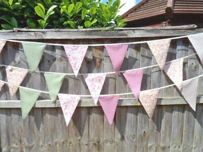 £3.95 • Buy BUNTING Shabby Chic Country Vintage FABRIC Wedding Garden Party Decorations NEW