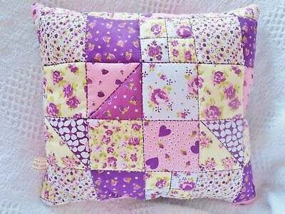 Patchwork Quilting CUSHION Kit EASY Sewing Pattern Fabrics Wadding STUFFING Etc • 12.50£