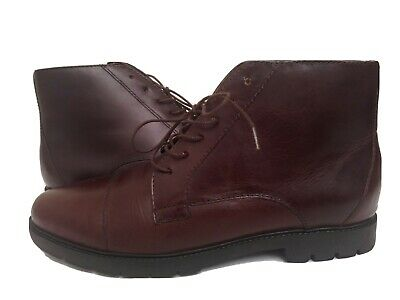 £31.94 • Buy Rockport Women's Size 8M Burgundy Leather Lace Up Hobo Chic Booties EUC