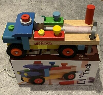Janod Style DIY Truck • Wooden Toy • Children • Build • 2 In 1 Game • Christmas • 6.50£