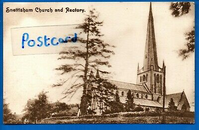 Postcard Church & Rectory Snettisham Norfolk Nr Kings Lynn Hunstanton Heacham • 0.99£