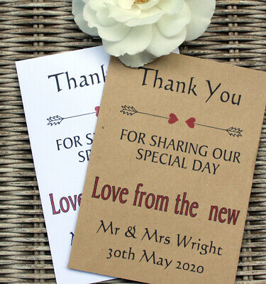 £3.50 • Buy 10 Personalised Scratch Card Envelope For Wedding Favours Birthdays Anniversarys