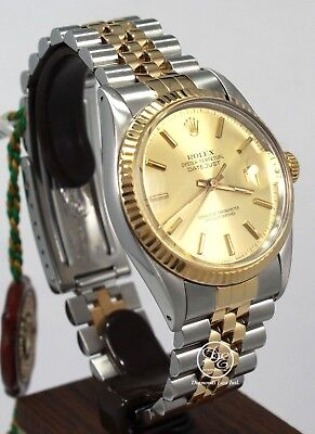 $ CDN7610.94 • Buy Rolex Datejust 16013 Jubilee 36mm 18K Yellow Gold /SS Champ Dial Mint Condition