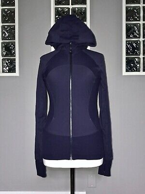 $ CDN100 • Buy Lululemon In Flux Jacket 8 Black Grape Reversible Studio Swift Euc Slim Fit