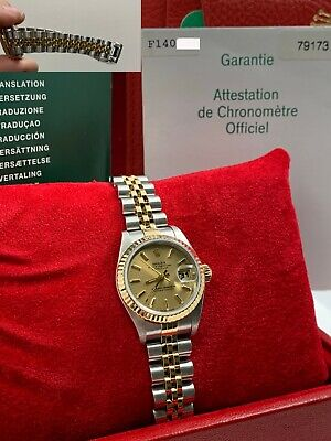 $ CDN5702.73 • Buy Rolex 79173 Ladies Datejust 18K Yellow Gold & Stainless Steel Box Papers