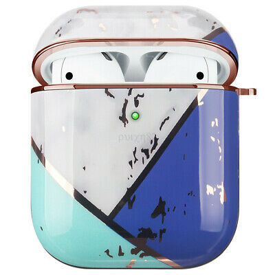 AU20.23 • Buy For Apple AirPods Marble Gold Case Shockproof Cover Luxury W/ Holder (Soladite)