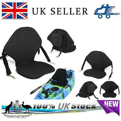 £21.70 • Buy Deluxe Kayak Seat Adjustable Sit On Top Canoe Back Rest Support Cushion Safety
