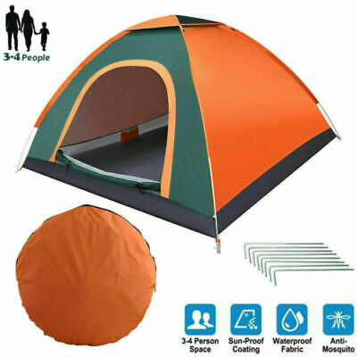 AU39.98 • Buy 3-4 Man Persons Automatic Pop Up Tent Outdoor Hiking Waterproof Camping Fishing