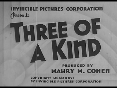 £1.99 • Buy Three Of A Kind 1936 Evalyn Knapp, Chick Chandler Comedy DVD