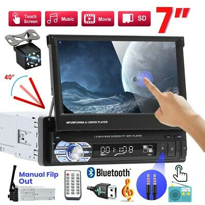 7  1DIN Car Stereo Radio Touch FM USB Bluetooth Camera MP5 Player With Camera • 62.99£