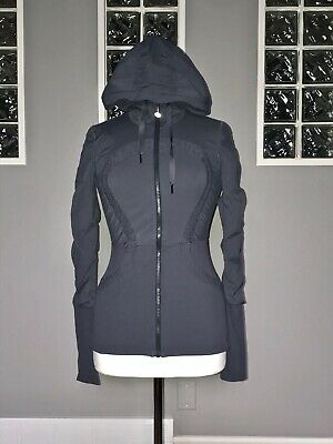 $ CDN88 • Buy Lululemon Dance Studio Jacket 4 Deep Coal Gray Reversible Swift Euc