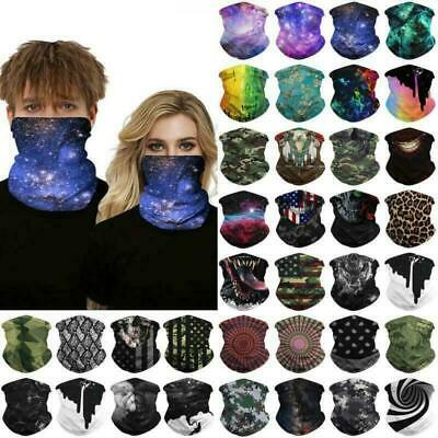 $8.99 • Buy Multi Use Bandana Tube Scarf Snood Balaclava Motorcycle Neck Gaiter Face Cover