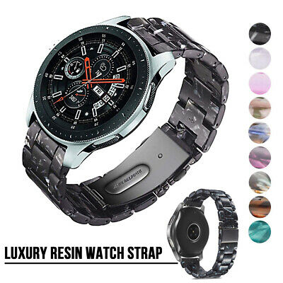 AU15.28 • Buy For Samsung Galaxy Watch 3 41/45mm Luxury Resin Watch Link Band Strap 42/46mm S3
