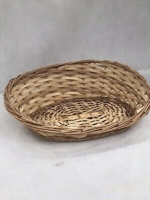 Woven Wicker Display Basket Gift Hamper Fruit Easter Egg Basket Perfect Conditio • 6.99£