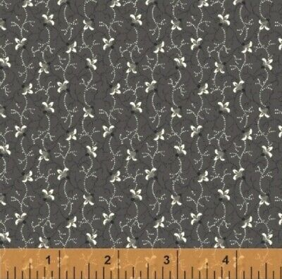 AU5 • Buy SUSSEX – BUDS CHARCOAL Fabric   Fat 1/4