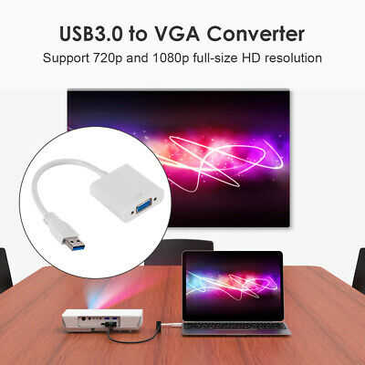 AU10.81 • Buy USB 3.0 To VGA Converter For Monitor Projector Cable 1080P Video Display Adapter
