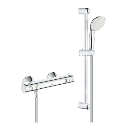 Grohe Grohtherm 800 Thermostatic Shower Mixer 1/2″ With Shower Set - 34565001 • 124.99£