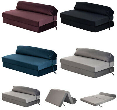 £99.97 • Buy Velvet Z Bed Double Size Fold Out Chair Bed Sofa Seat Foam Folding Chair Futon
