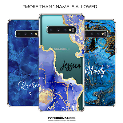 $ CDN10.28 • Buy Personalised Phone Case Name Initials Silicone Cover For Samsung S10 S20 S9+ S8