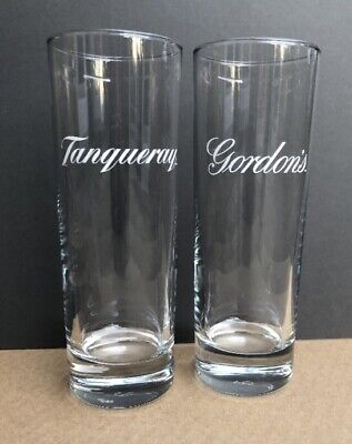 2 Gin Glass Collectables 1 X Tanqueray And 1 X Gordon's Gin Tall Glasses Unused • 17.99£