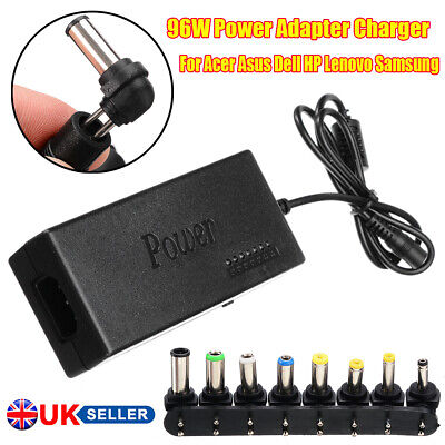 96W Power Adapter Charger For Acer Asus Dell HP Lenovo Samsung Laptop 12/24V  • 9.99£