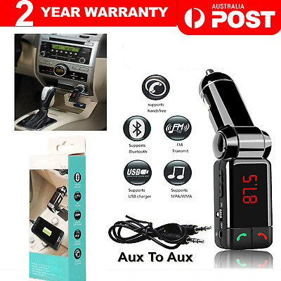 AU13.95 • Buy Bluetooth Car Kit FM Transmitter Handsfree Car Charger MP3 Player USB