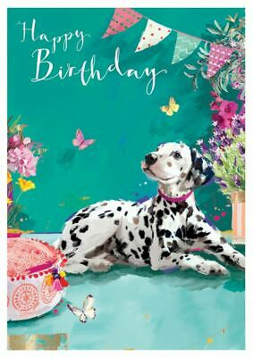 Birthday Card - Dalmatian Dog - At Home Ling Design Quality NEW • 2.69£