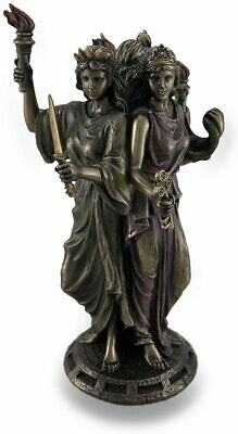 LARGE Hecate Greek Goddess Of Magic & Witchcraft Statue Sculpture Figurine MINT • 39.61£
