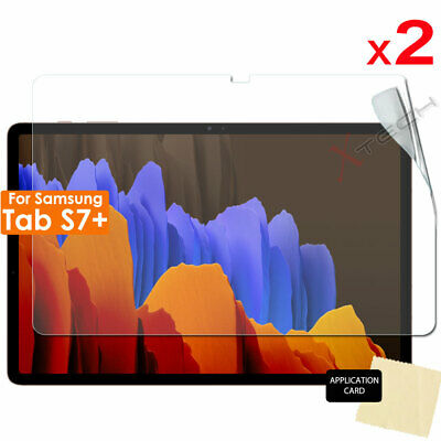£3.49 • Buy 2x CLEAR Screen Protector Covers For Samsung Galaxy Tab S7 Plus T970 T975 T976