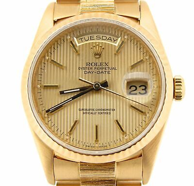 £11641.10 • Buy Mens Rolex 18k Yellow Gold Day-Date President Watch BARK Tapestry Dial