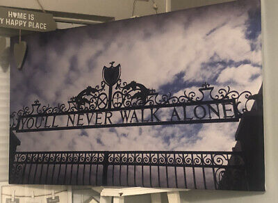 £29.99 • Buy Liverpool FC You'll Never Walk Alone Canvas Wall Art Picture Print Home Decor