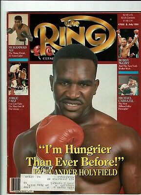 $3 • Buy The Ring Magazine-July 1990-Evander Holyfield Cover-Very Good