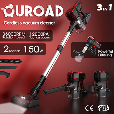 AU101.90 • Buy 3in1 Handheld Vacuum Cleaner Recharge 150W  Cordless Handstick Stick Bagless Red