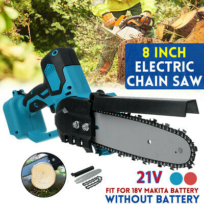 Electric Cordless Chainsaw Chain Saw Garden Cutting Tools For Makita Battery • 45.99£
