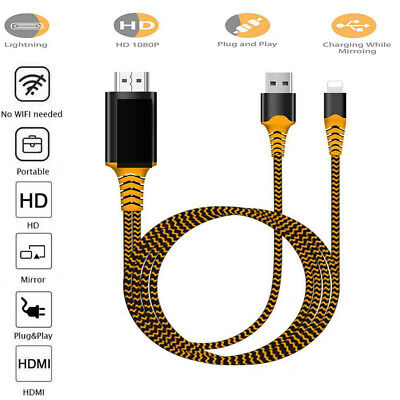 1080P HD TV Adapter Cable Lightnin-g To HDMI Lead For IPhone 11 8 7 6 Plus XS XR • 7.59£