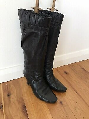 AU145 • Buy RARE YSL Buttersoft Black Lambskin Italian Leather BOOTS RRP$1,890 SOLD OUT